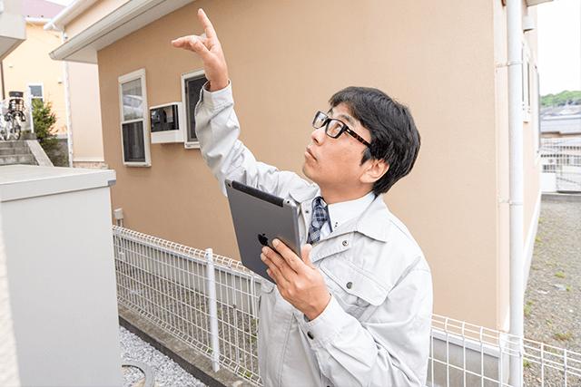 現地にて建物診断