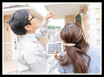 工事経験豊富な職人が外壁・屋根を徹底的にチェックします